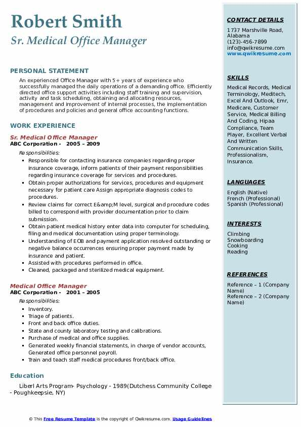 medical office manager resume samples qwikresume pdf good buzz words leave of absence on Resume Medical Office Manager Resume Samples