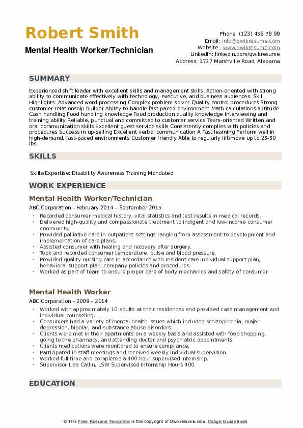 mental health worker resume samples qwikresume template pdf the music patient coordinator Resume Mental Health Resume Template