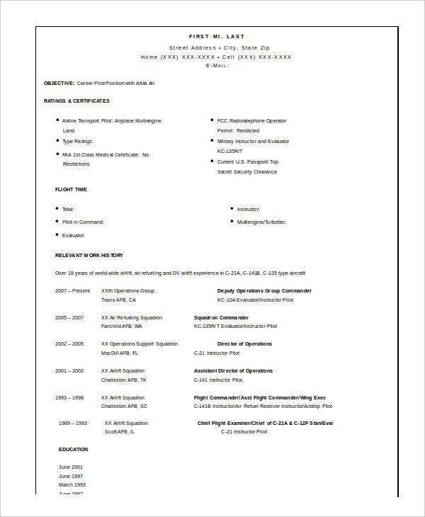 military resume free word pdf documents premium templates template for retired pilot Resume Resume Template For Retired Person