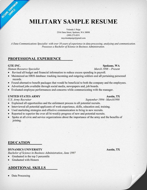 military to federal resume writing your first basic for members assistant manager sample Resume Resume For Military Members