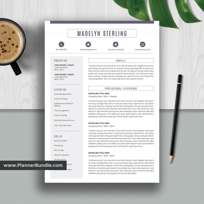 modern and unique resume template for ms word cv professional design college students Resume Microsoft Office Resume Templates 2020