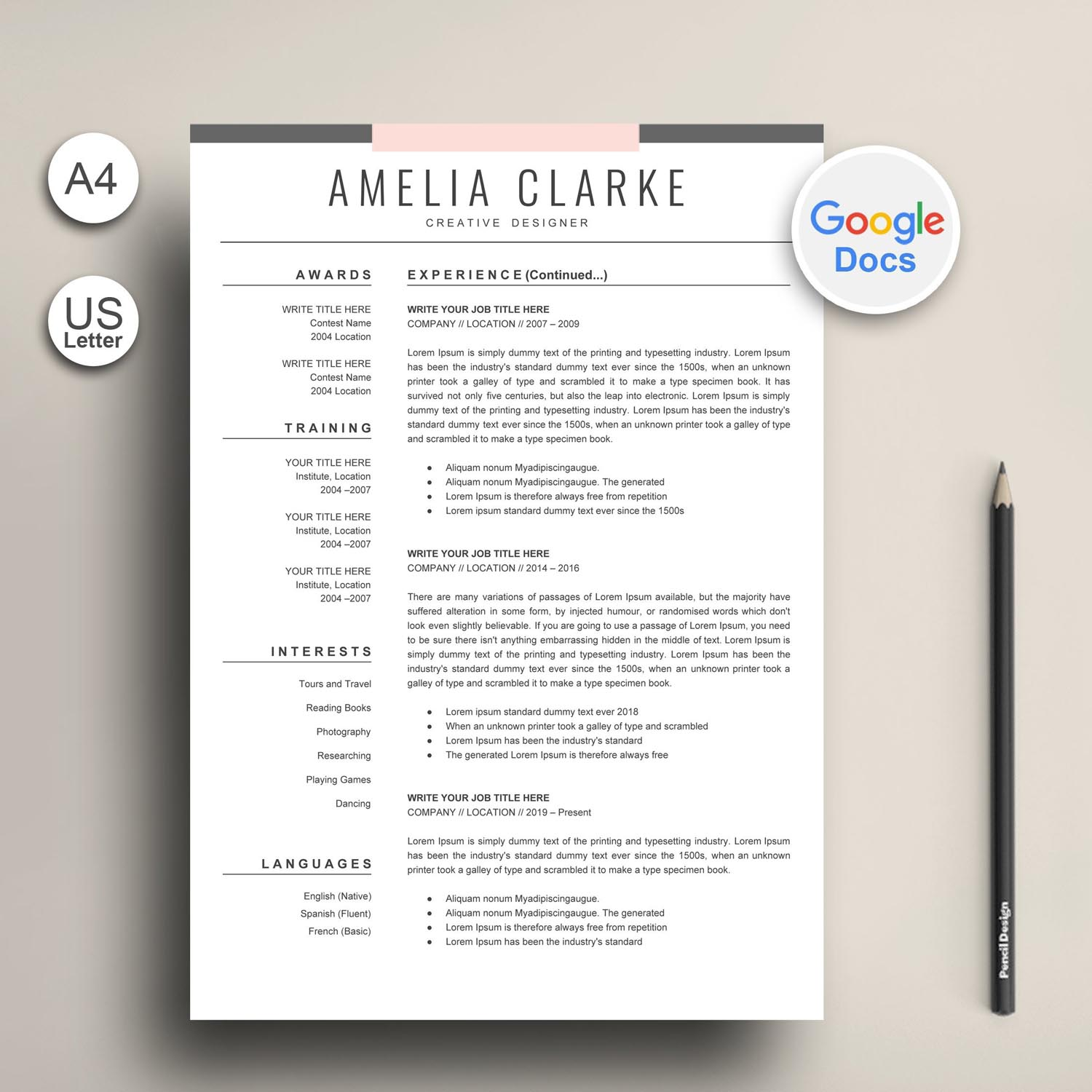 modern google docs resume template graphic worker exclusive cv templates free canva Resume Google Docs Templates Resume Free