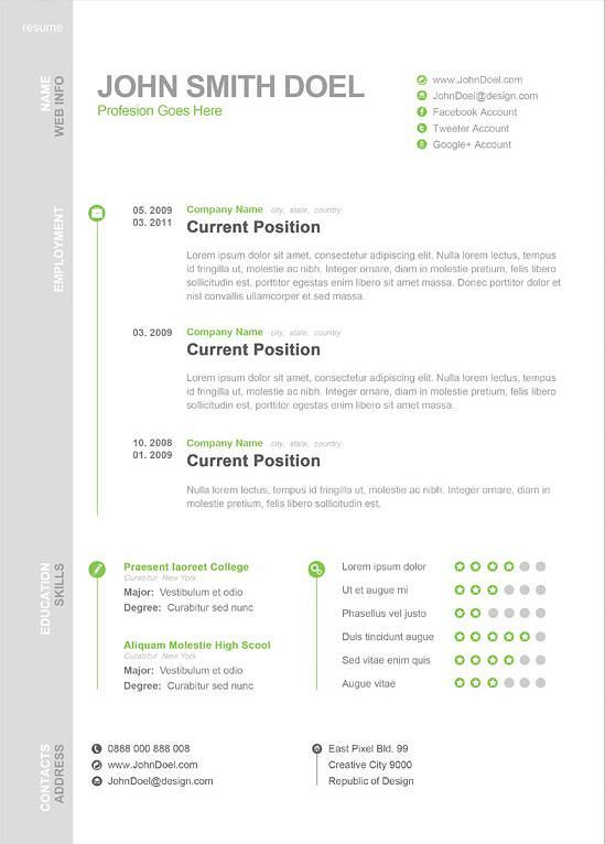 modern one resume format muldskud creative visual catering manager headings photographer Resume One Page Resume Format