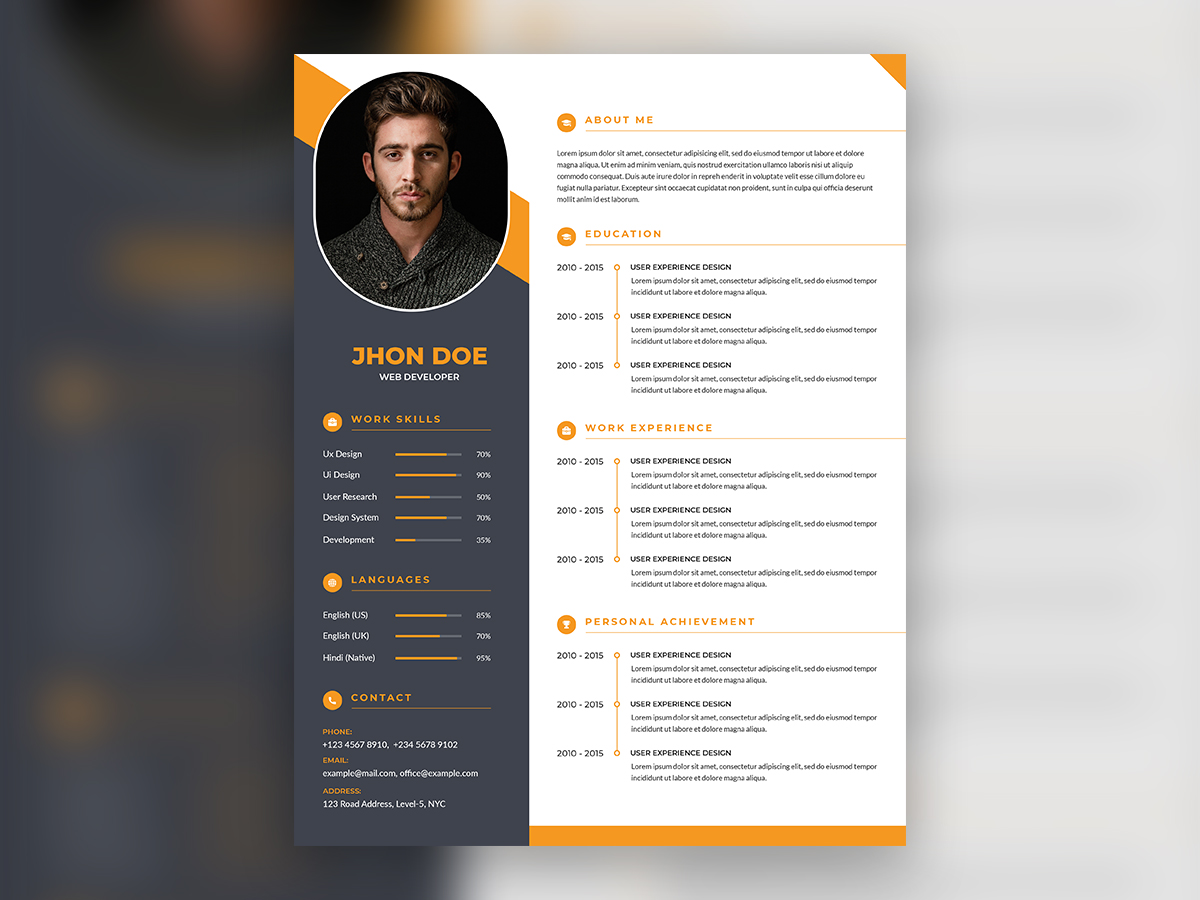 modern professional resume template uplabs design preview post your voice samples oil and Resume Professional Resume Design