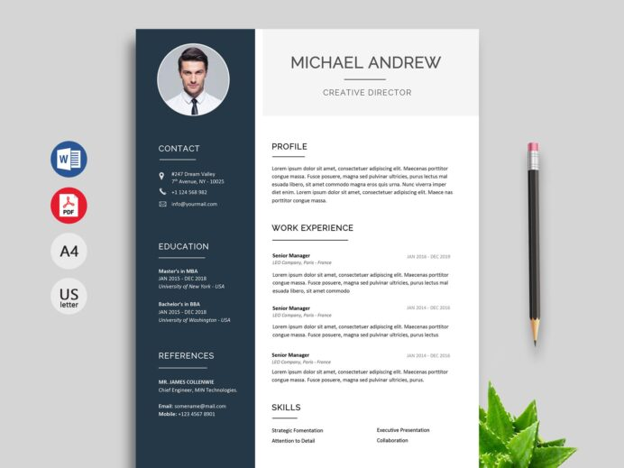 modern resume cv template free resumekraft current templates prime references available Resume Free Current Resume Templates