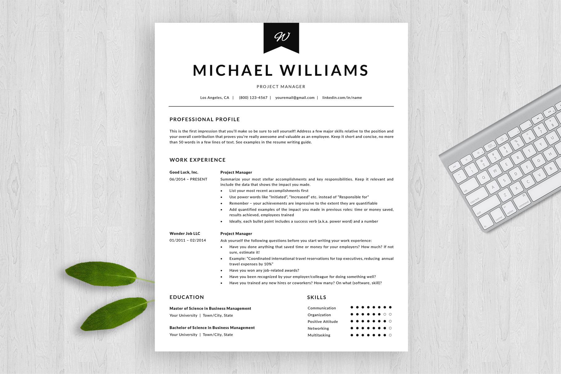 modern resume template and cover letter michael bonus ats friendly by templatehippo Resume Ats Friendly Resume Template