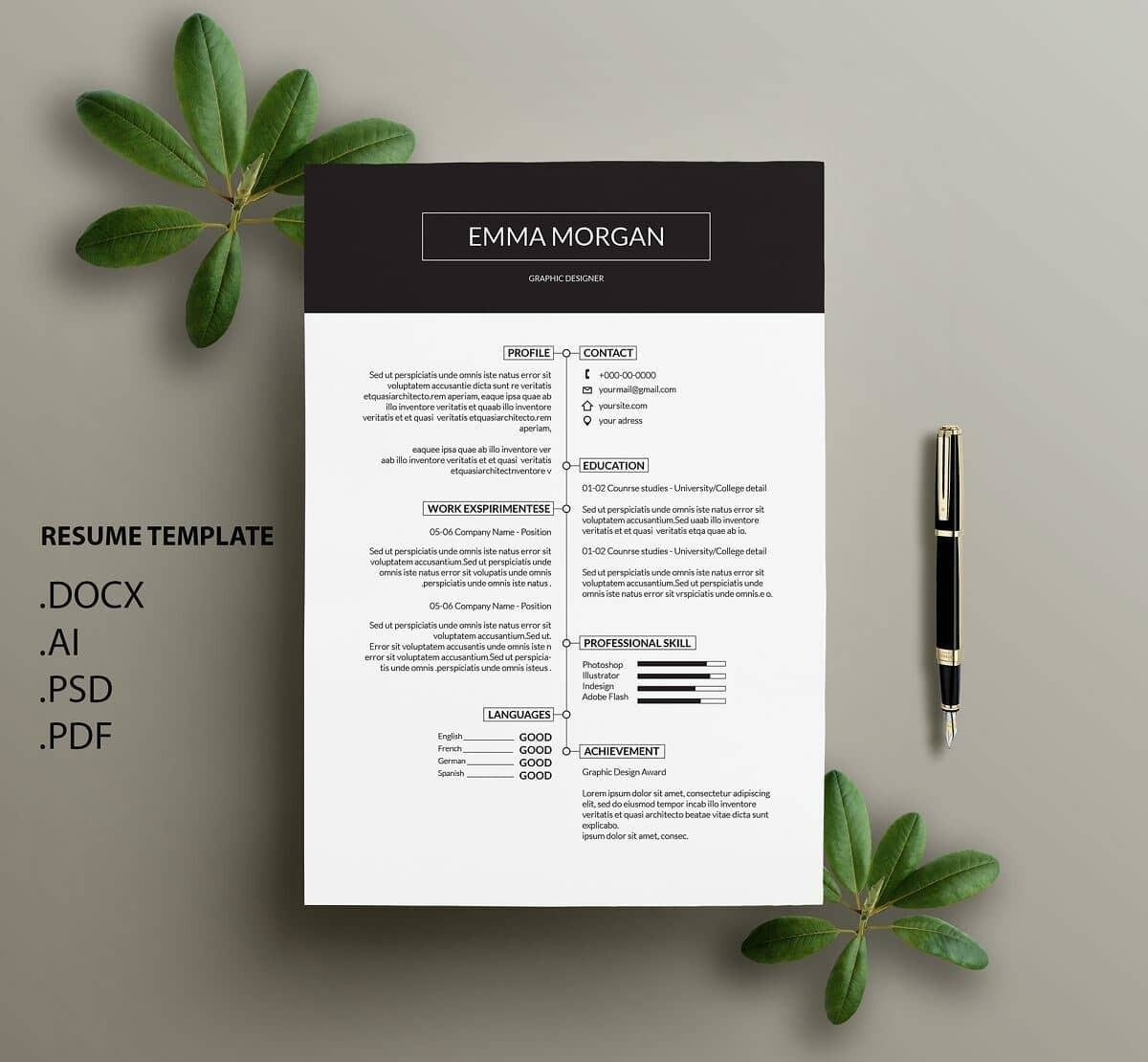 modern resume template format examples for contemporary templates account executive Resume Contemporary Modern Resume Template