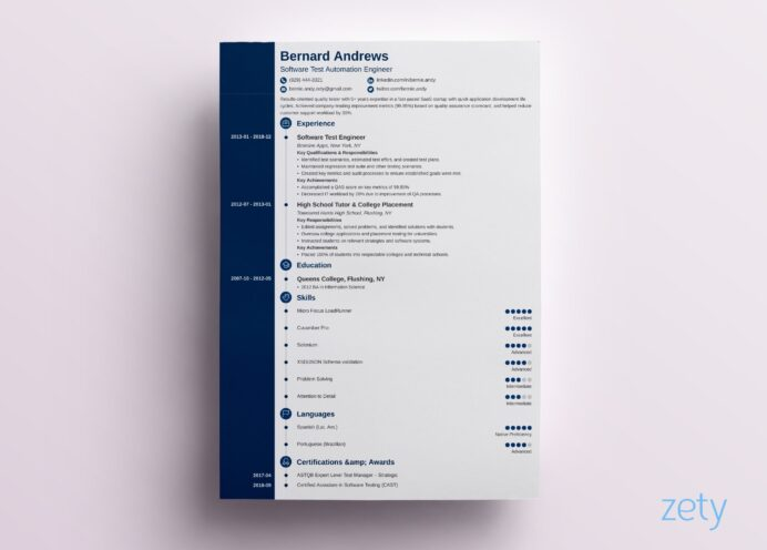 modern resume template format examples for contemporary templates concept calibri font Resume Contemporary Modern Resume Template