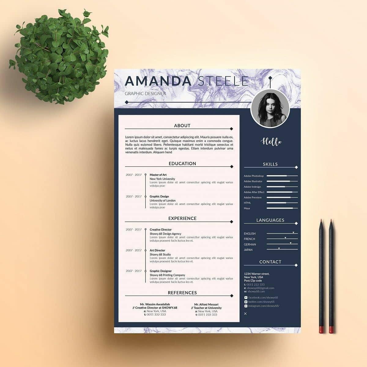 modern resume template format examples for contemporary templates profile portion of Resume Contemporary Modern Resume Template