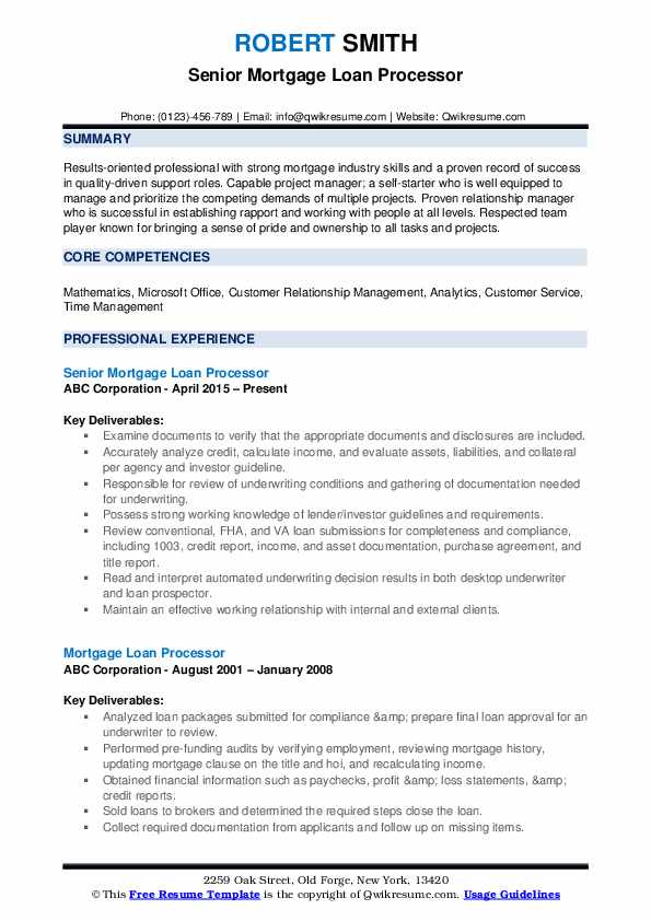 mortgage loan processor resume samples qwikresume skills for pdf experience sample past Resume Mortgage Skills List For Resume