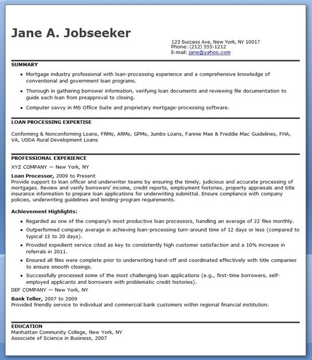 mortgage loan processor resume templates downloads cover letter for skills retiree Resume Mortgage Skills List For Resume