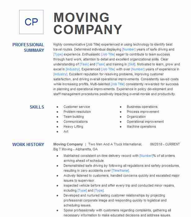 moving company resume example all my sons storage fort examples microsoft wizard business Resume Moving Company Resume Examples