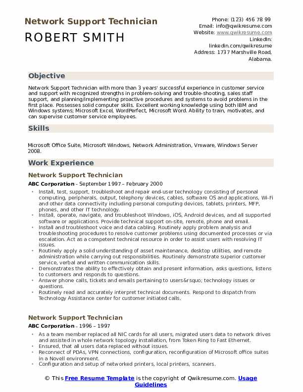 network support technician resume samples qwikresume it supports pdf shipping clerk job Resume It Supports Technician Resume Samples