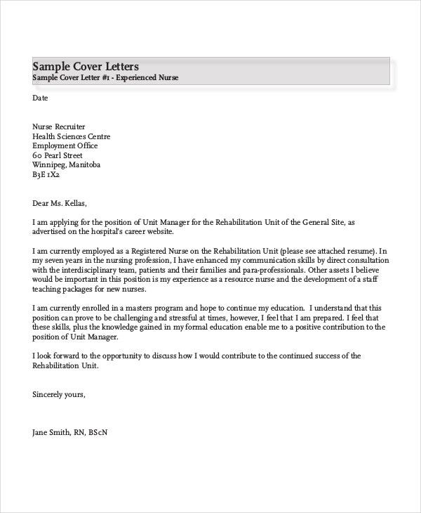 nursing cover letter example free word pdf documents premium templates sample for resume Resume Sample Cover Letter For Nursing Resume