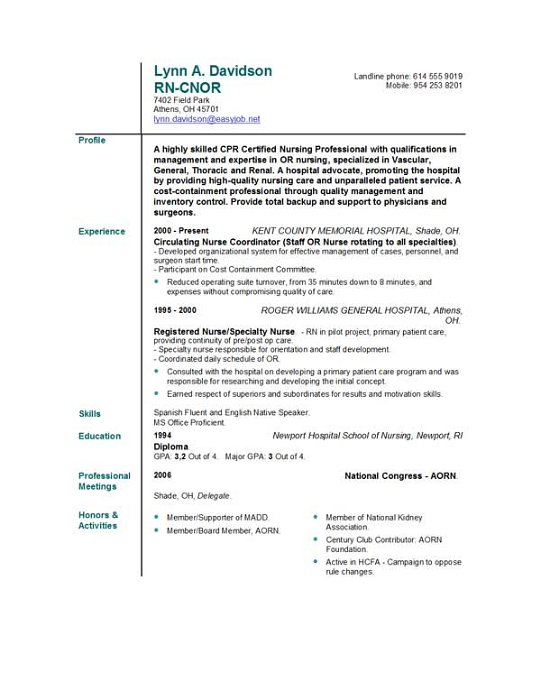 nursing resume templates easyjob format free nurse template for assistant manager quality Resume Nursing Resume Format Download