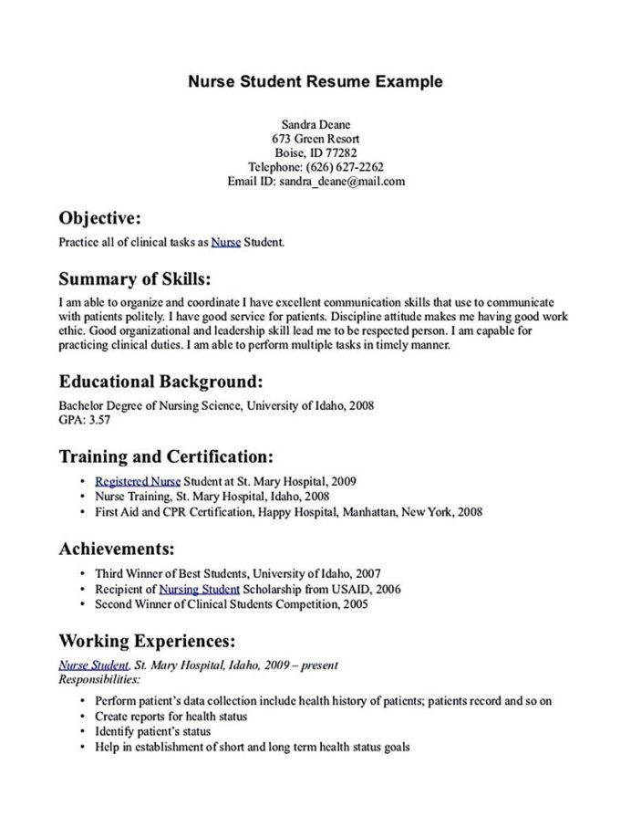 nursing student resume samples and tips nurse template clinical skills for security Resume Nursing Clinical Skills For Resume