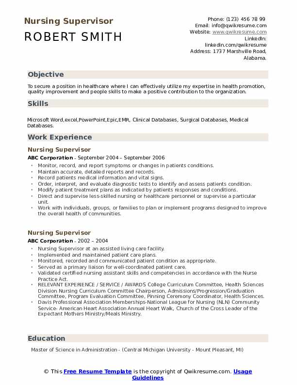nursing supervisor resume samples qwikresume goals and objectives for pdf mac cosmetics Resume Nursing Goals And Objectives For Resume