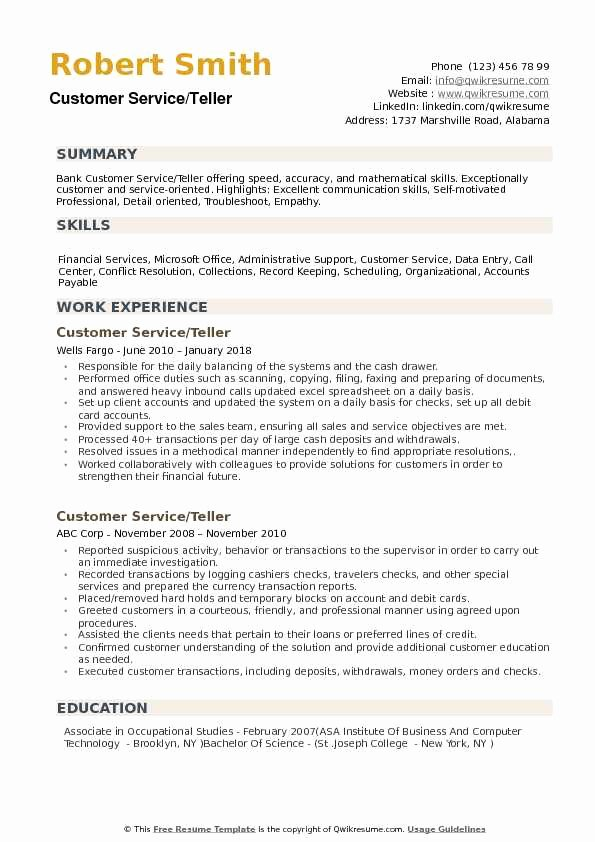objective for bank resume awesome description inspirational to write elfaro customer Resume Resume Description For Bank Teller