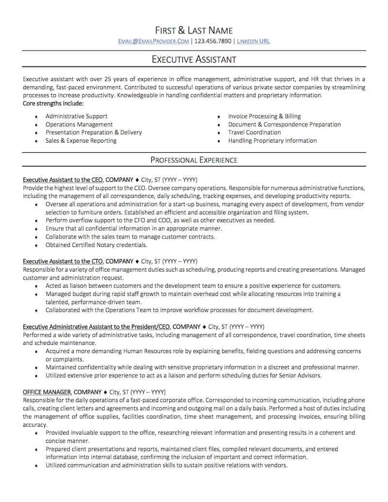 office administrative assistant resume sample professional examples topresume executive Resume Executive Assistant Resume Examples