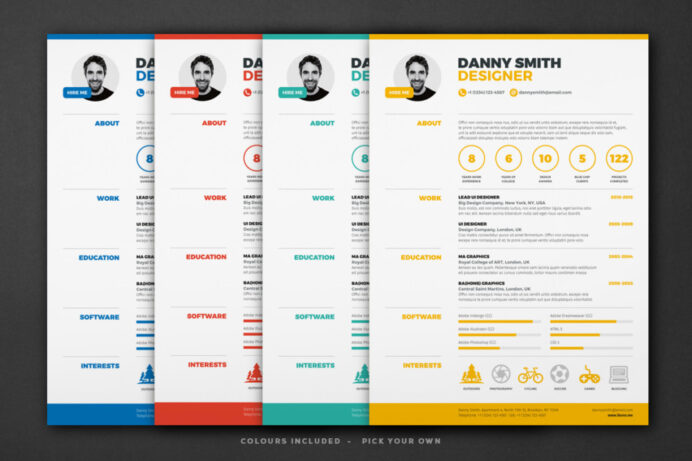 one resume template indesign and word format graphic clean webpage catering manager sjvc Resume One Page Resume Format
