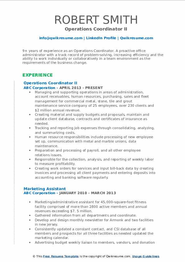 operations coordinator resume samples qwikresume pdf civil engineering student product Resume Operations Coordinator Resume