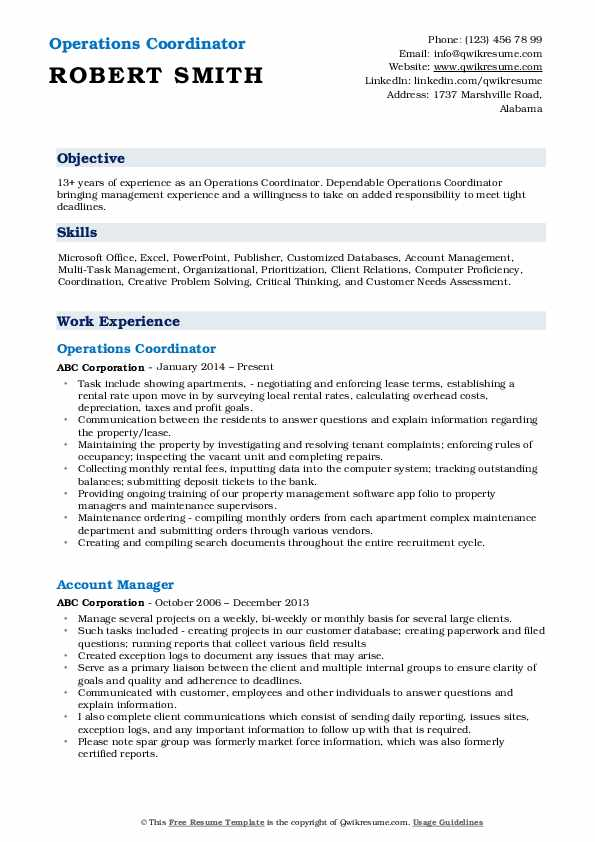 operations coordinator resume samples qwikresume pdf product analyst mcsa logo for city Resume Operations Coordinator Resume