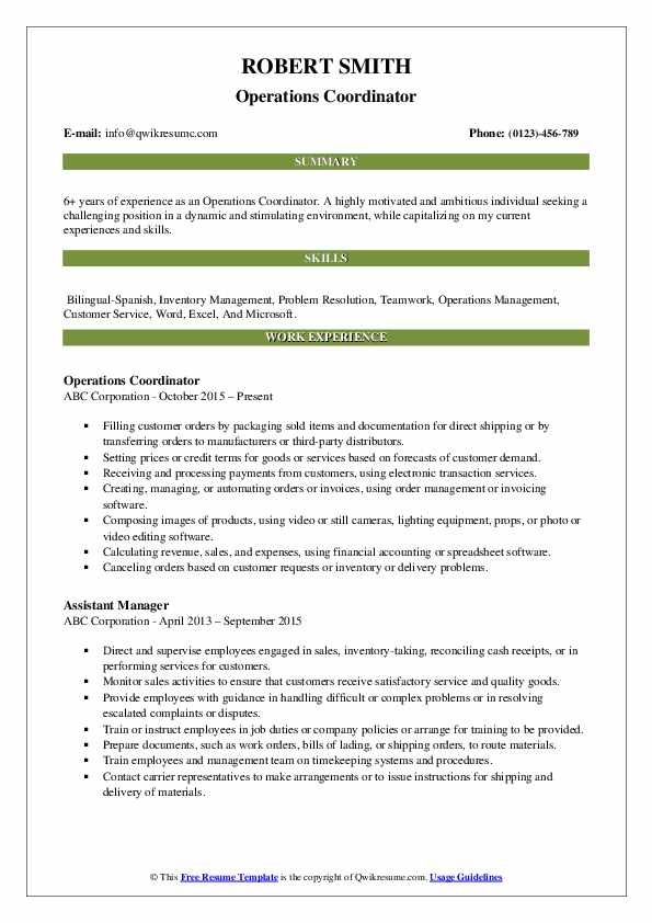 operations coordinator resume samples qwikresume pdf project manager objective statements Resume Operations Coordinator Resume