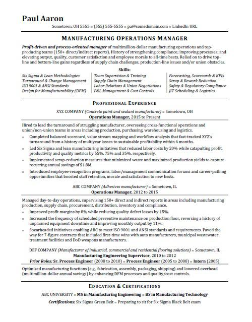 operations manager resume sample monster director of facilities accounting writing Resume Director Of Facilities Resume