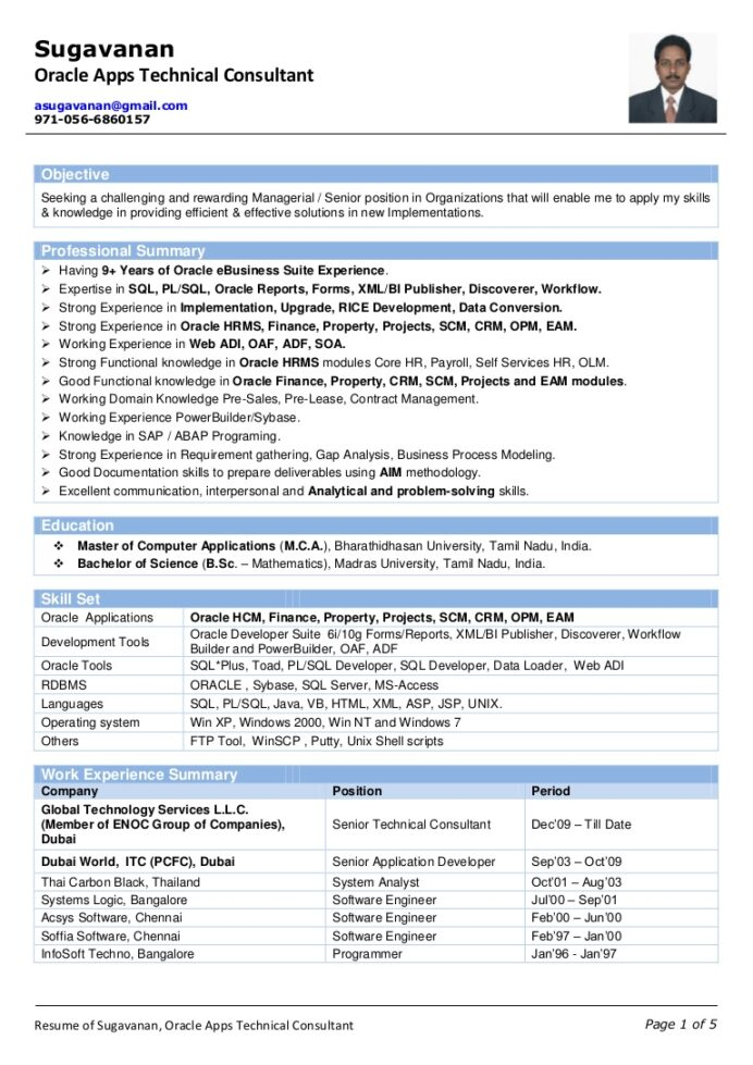 oracle scm functional consultant resume free templates of sugavanan apps technical best Resume Oracle Hrms Techno Functional Consultant Resume
