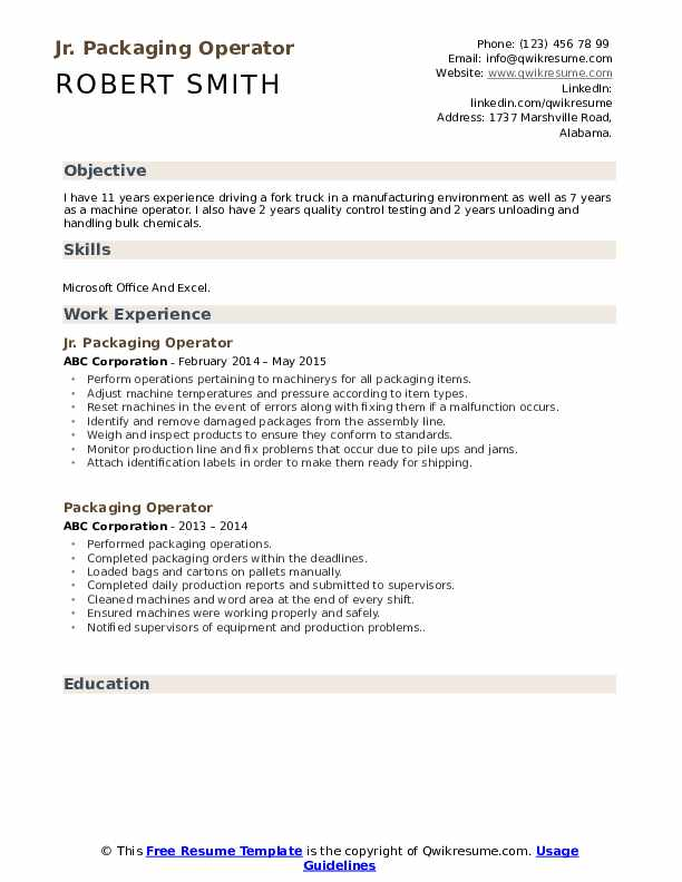 packaging operator resume samples qwikresume pharmaceutical objective pdf duke student Resume Pharmaceutical Resume Objective