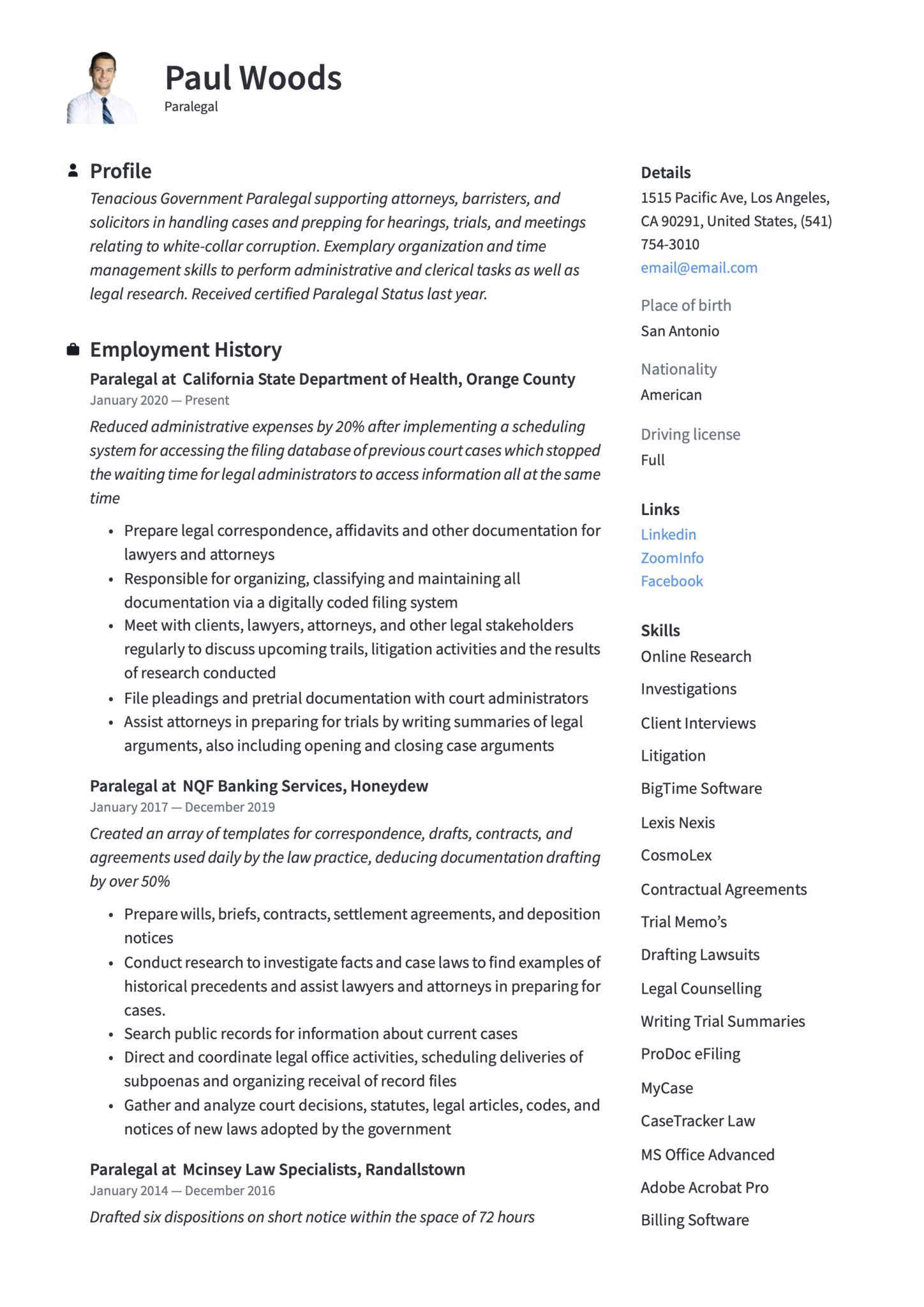 paralegal resume examples guide pdf free skills scaled caretaker now fees relevant Resume Paralegal Skills Resume