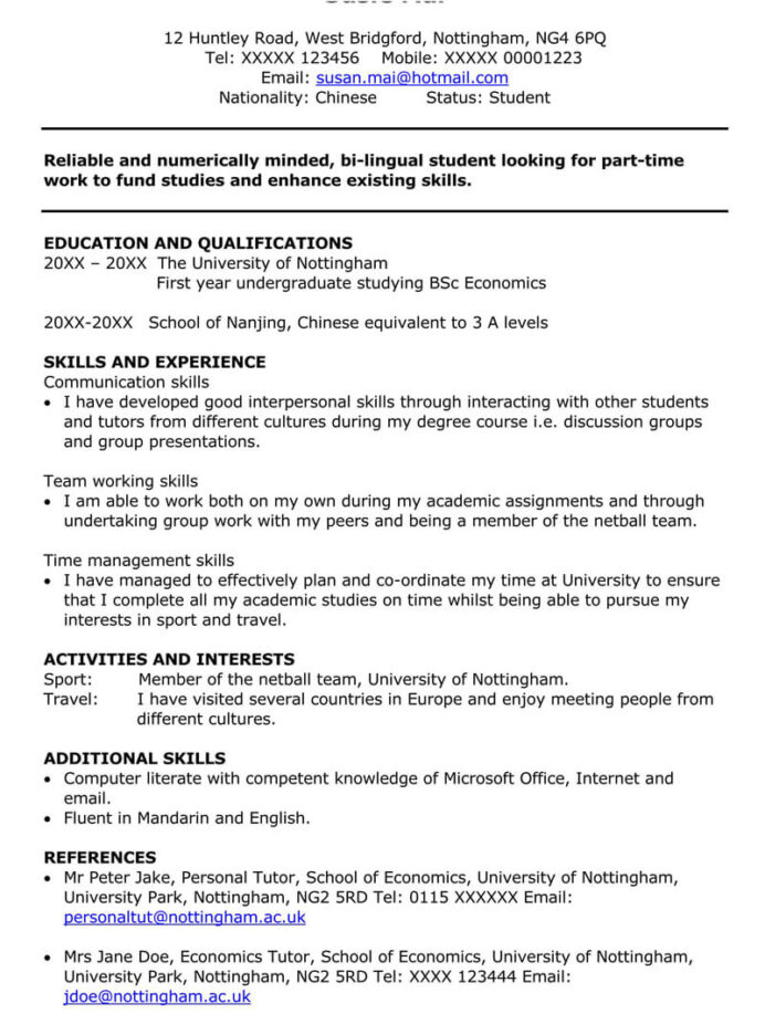 part time job cover letter sample letters examples resume for summer applicants without Resume Resume For Summer Job Applicants
