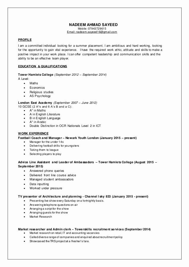 part time job resume inspirational nadeem cv jobs template examples for college student Resume Resume For Part Time Job College Student