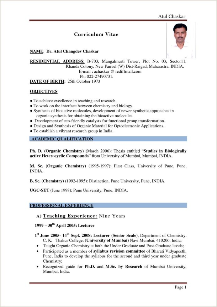 payments business analyst resume format for bsc chemistry freshers informal samples Resume Resume Format For Msc Statistics Freshers