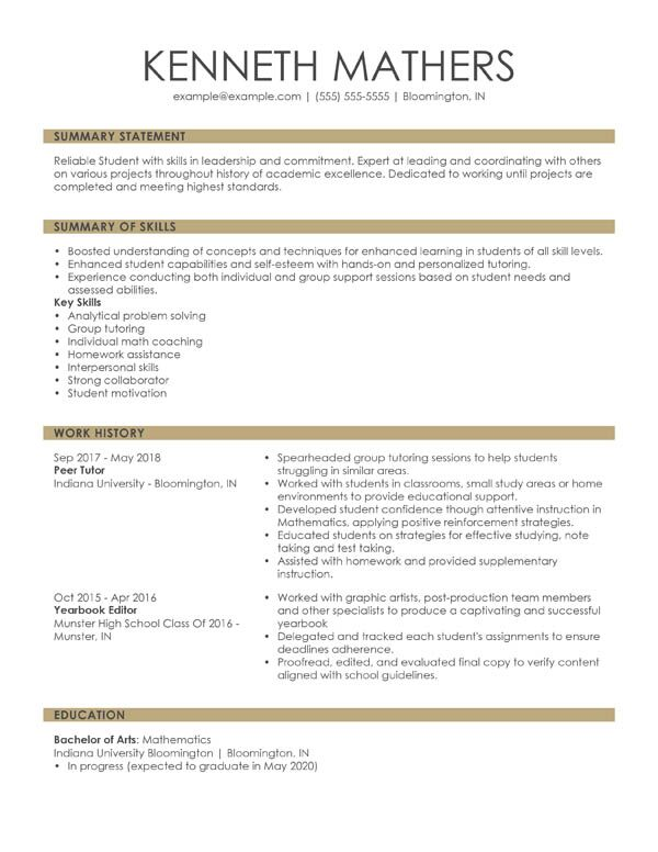 perfect resume examples for my about combination student example summary customer service Resume About Me Resume Examples