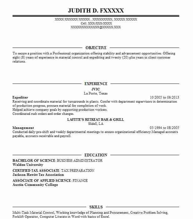 permit expediter resume example expeditors llc material expeditor professional writers Resume Material Expeditor Resume