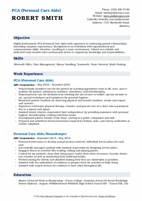 personal care aide resume samples qwikresume assistant sample pdf general cover letter Resume Personal Care Assistant Resume Sample