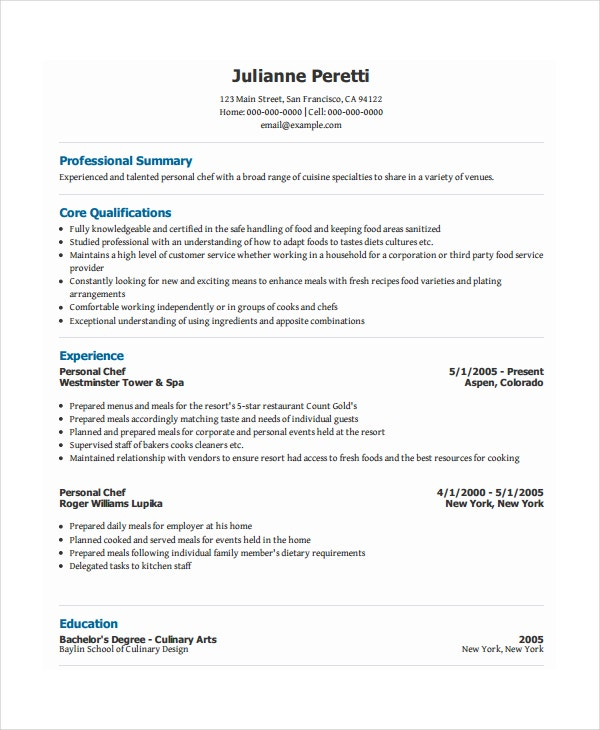 personal resume template free word pdf document premium templates chef unforgettable Resume Personal Resume Template Free