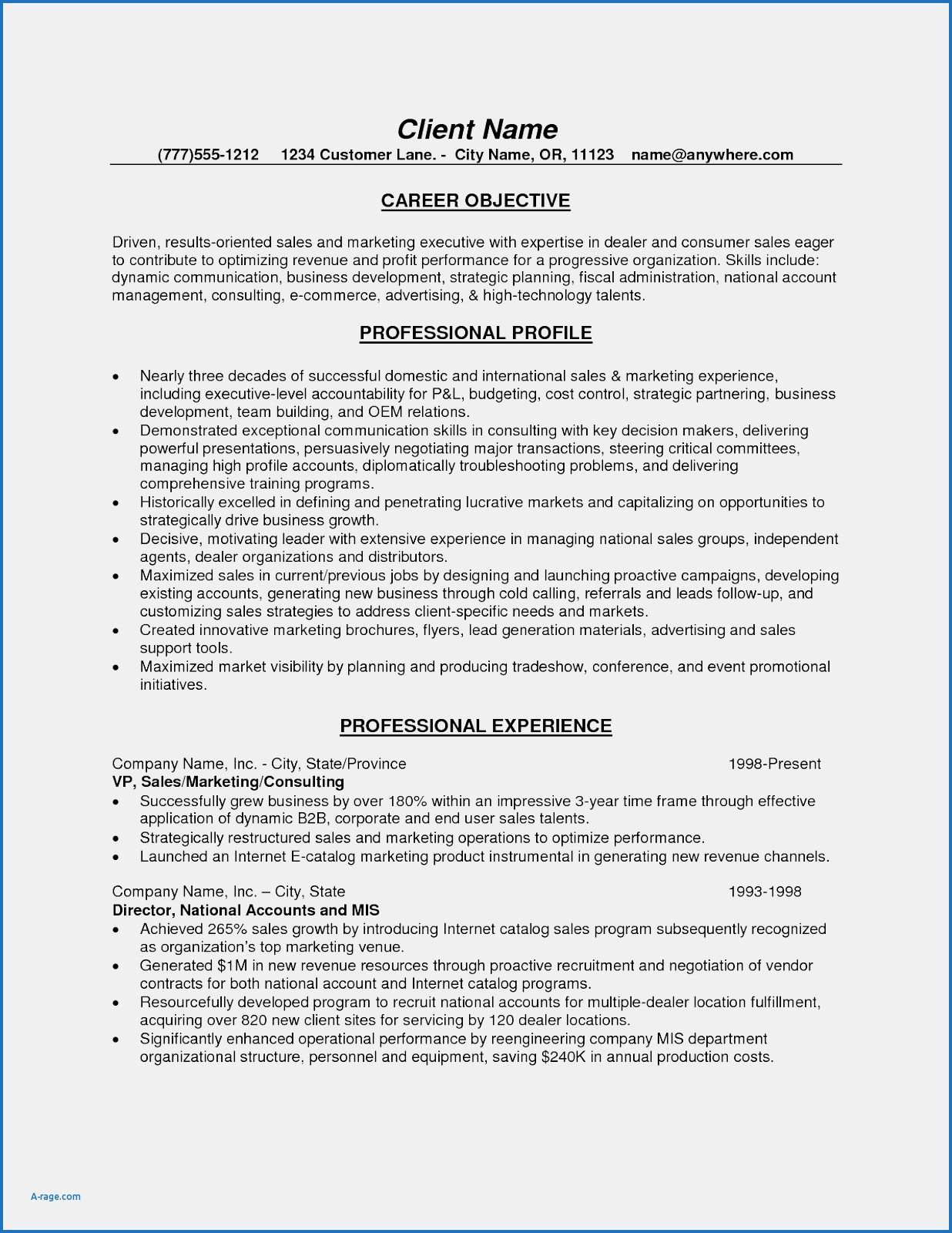 personal trainer client profile template beautiful ymca sample resume examp objective Resume Personal Marketing Resume