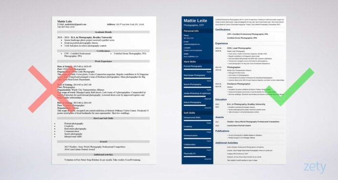 photographer resume examples photography skills template sample email with attached cover Resume Photography Resume For Beginners