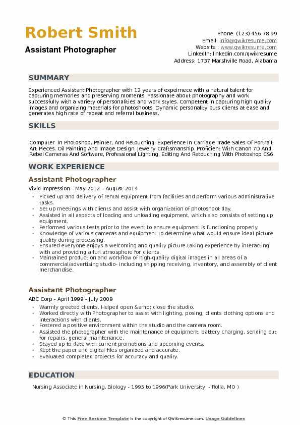 photographer resume line 17qq photography for beginners phqgnpgkwky sample objective Resume Photography Resume For Beginners