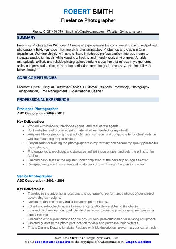 photographer resume samples qwikresume photography for beginners pdf admin assistant Resume Photography Resume For Beginners