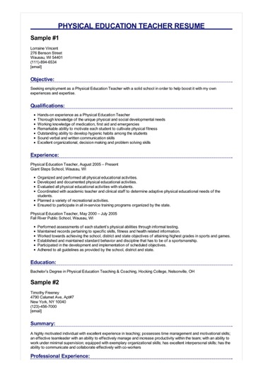 physical education teacher resume great sample experience image stevedore and cover Resume Sample Resume Education Experience