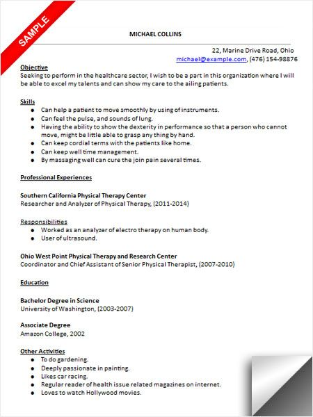 physical therapist assistant resume sample therapy job description for functional human Resume Physical Therapist Assistant Job Description For Resume