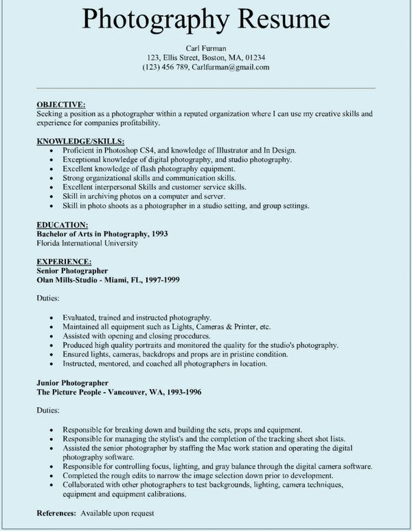pin by carl on resume free template word photography photographer for beginners navy Resume Photography Resume For Beginners