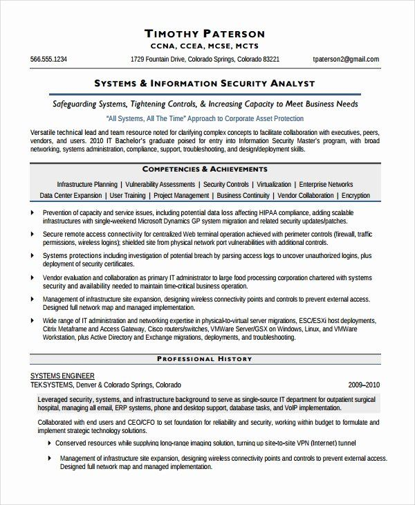pin on job resume sample security analyst template skills title for professional acting Resume Security Analyst Resume Template
