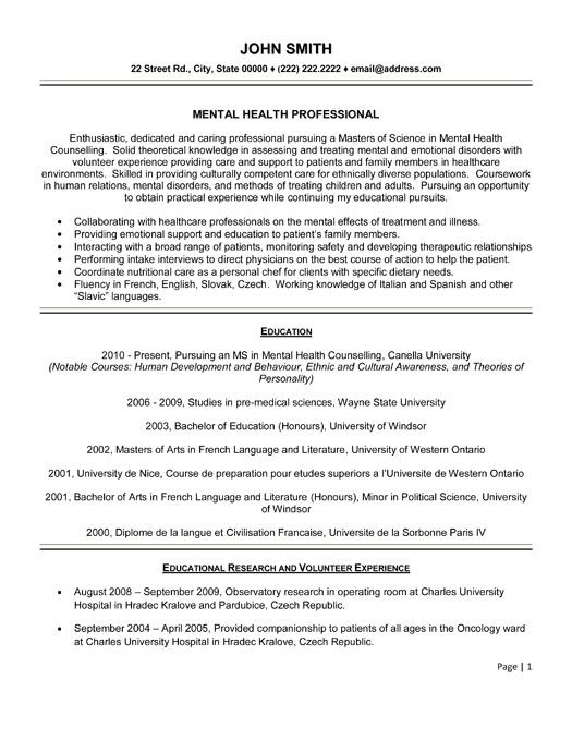 pin on job search mental health resume template service worker patient coordinator the Resume Mental Health Resume Template