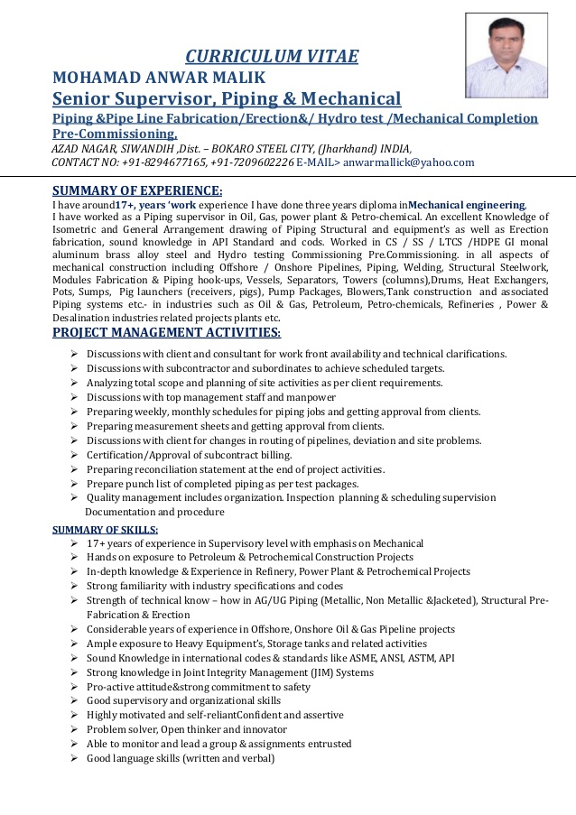 piping supervisor resume template word file incident and problem management pharmacist Resume Piping Supervisor Resume Word Format