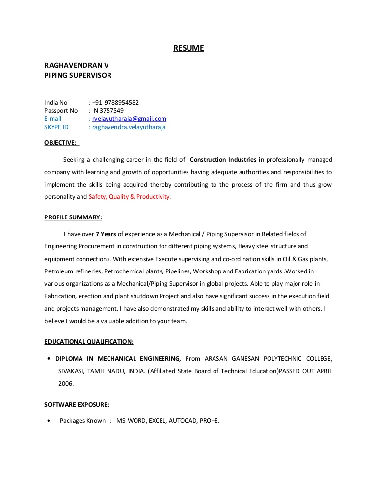 piping supervisor resume word format thumbnail for service manager dice estimated Resume Piping Supervisor Resume Word Format