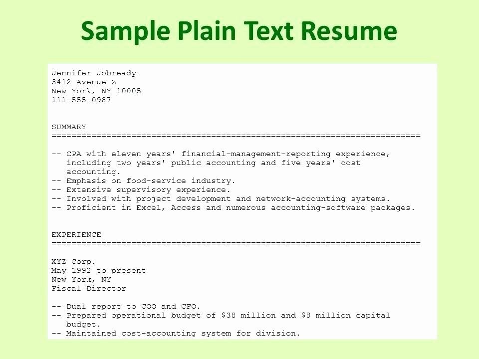 plain text resume example elegant essentialmom good examples template best format for Resume Best Text Format For Resume